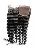 Closure Cheveux Humains Frisée Part Libre Lace