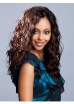 Perruque Longue Ondulée Lace Front De Cheveux Naturels