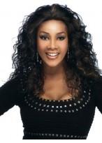 Perruque Ondulée Mi-Longue De Cheveux Naturels Afro-Américaine