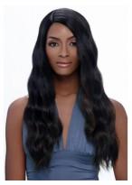 Perruque Afro-Américaine Belle Longue Ondulée Sans Frange