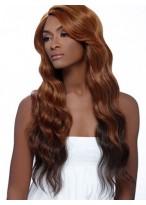 Perruque Excellentee Longue Ondulée De Cheveux Naturels