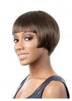Perruque Lace Front Lisse De Cheveux Naturels