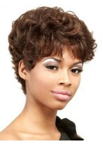 Perruque Ondulée A La Mode De 100% Cheveux Naturels