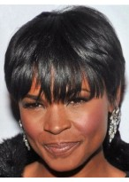Perruque Afro-Américaine Courte Lisse