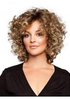 Perruque Magnifique Frisée Lace Front Cheveux Naturels