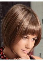 Perruque Soyeuse Lisse De Style Bob Et De Cheveux Naturels