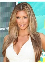 Perruque Lisse Avec Raie Au Centre De Style Kim Kardashian
