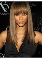 Perruque Longue Lisse Full Lace De Style Tyra Banks