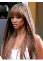 Perruque Populaire Lisse Capless Synthétique De Style Tyra Banks