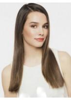 Perruque Frappante Lisse Lace Front Cheveux Naturels Brésiliens