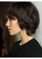Perruque Eblouissante Cheveux Naturels Brésiliens Ondulée Capless
