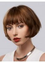 Perruque Attractive Lisse Capless Cheveux Naturels