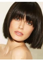 Perruque Moderne Lisse Capless Cheveux Naturels