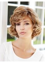 Perruque Impressionnante Ondulée Lace Front Cheveux Naturels