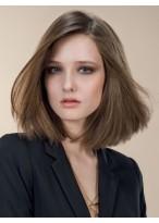 Perruque Glamoureuse Lisse Lace Front Cheveux Naturels