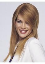 Perruque Élégante Lisse Lace Front Cheveux Naturels