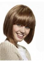 Perruque Classique Lisse Capless Cheveux Naturels