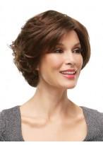 Perruque Élégante Ondulée Lace Front Cheveux Naturels