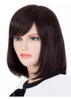 Perruque A La Mode Lisse Capless Cheveux Naturels