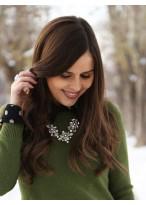 Perruque Brillante Ondulée Lace Front Cheveux Naturels