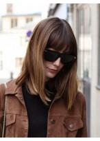 Perruque Populaire Lisse Capless Cheveux Naturels
