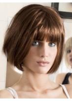 Perruque Soyeuse Lisse Capless Cheveux Naturels