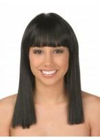 Perruque Lisse Noire De Cheveux Naturels