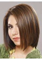 Perruque Douce Mi-Longue Lisse De Cheveux Naturels