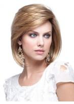 Perruque Jolie Courte Lisse De Cheveux Naturels