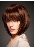 Perruque Soyeuese Courte De Style Bob Et De Cheveux Naturels