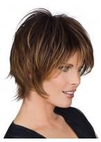 Perruque Chic Lisse Mi-Longue De Cheveux Naturels
