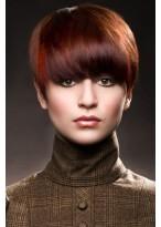 Perruque Rouge Lisse Capless De Cheveux Naturels
