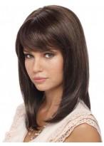 Perruque Lisse Lace Front De Cheveux Naturels