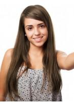 Perruque Attractive Lace Front Lisse De Cheveux Naturels