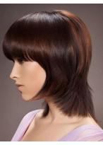 Perruque Cheveux Naturels Capless Lisse Courte