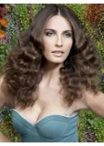 Perruque Cheveux Naturels Longue Lace Front Ondulée Impressionnante