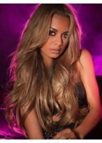 Perruque Cheveux Naturels Longue Lace Front Ondulée Minutieuse