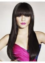Perruque Lisse Extra-Longue De Cheveux Naturels