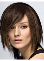 Perruque Cheveux Naturels Courte Capless Lisse Impressionnante