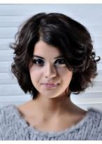 Perruque Cheveux Naturels Capless Ondulée Avec Glamour