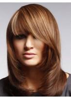 Perruque Cheveux Naturels Capless Lisse Durable