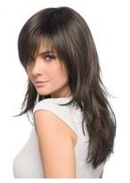 Perruque Front Lace Longue Multicouche De Cheveux Naturels