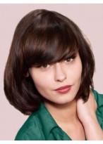 Perruque Moderne Lisse Cheveux Naturels Capless