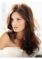 Perruque Séduisante Cheveux Naturels Ondulée Capless