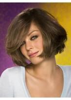 Perruque Avec Glamour Capless Mi-Longue Lisse Cheveux Naturels