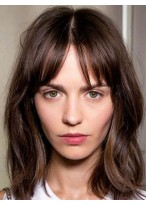 Perruque Belle Apparence Cheveux Naturels Lisse Capless