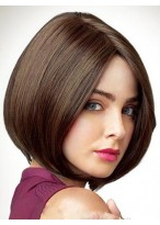 Perruque La Plus Populaire Cheveux Naturels Lisse Capless