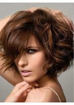Perruque Etonnante Ondulée Cheveux Humains Capless
