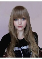 Perruque Merveilleuse Ondulée Cheveux Humains Capless