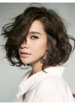 Perruque Jolie Ondulée Capless Cheveux Humains